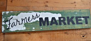 Custom Sign Farmer's Market