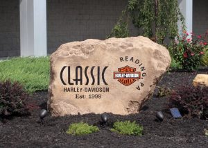 Custom Sign Etched Boulder