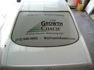 Perforated Vehicle WIndow Film
